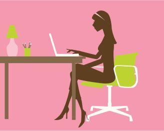 Girl Blogging