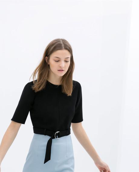 Zara Belted Crop